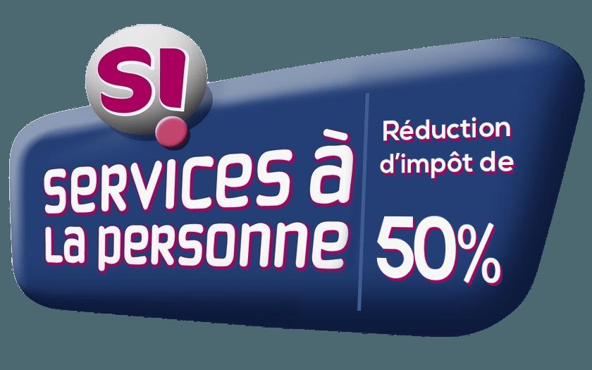 Service à la personne, réduction d'impôts de 50 %